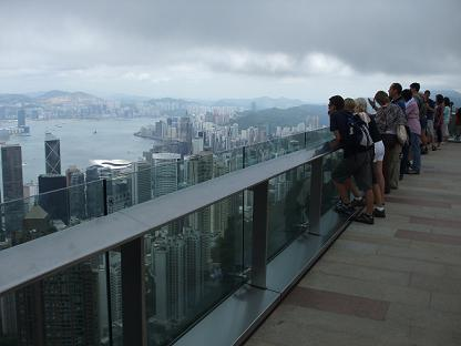 views on Hong Kong from hill The Peak