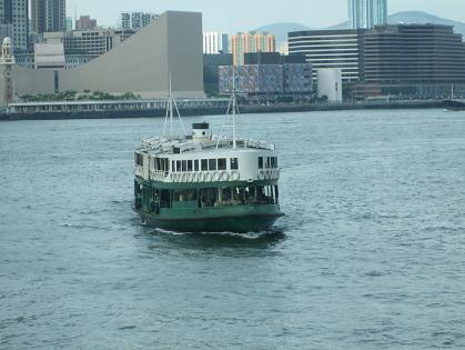star ferry boat crossing victoria harbour