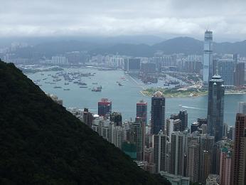 sckyscrapers in hong kong